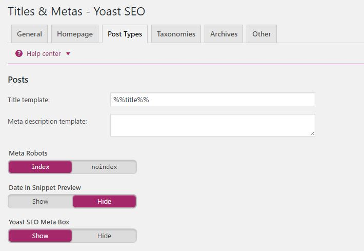 Title and Metas - Yoast SEO