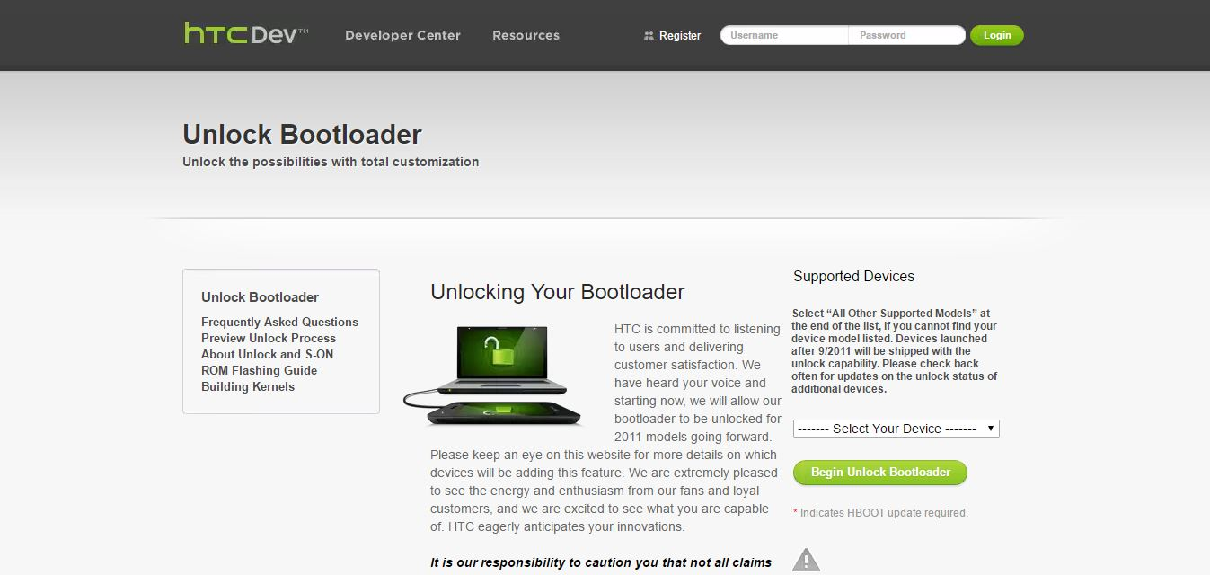 Unlock HTC Bootloader - HTC Dev