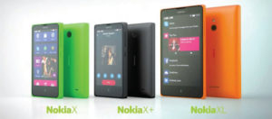 Nokia X, X+ and XL