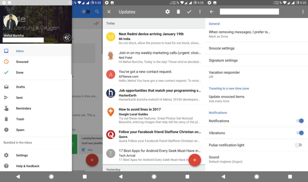 Inbox by Gmail Android App