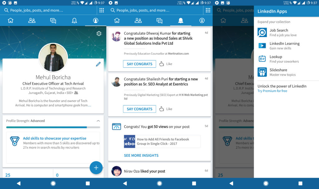 LinkedIn Android App