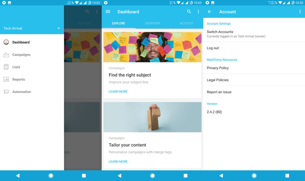 Mailchimp Android App