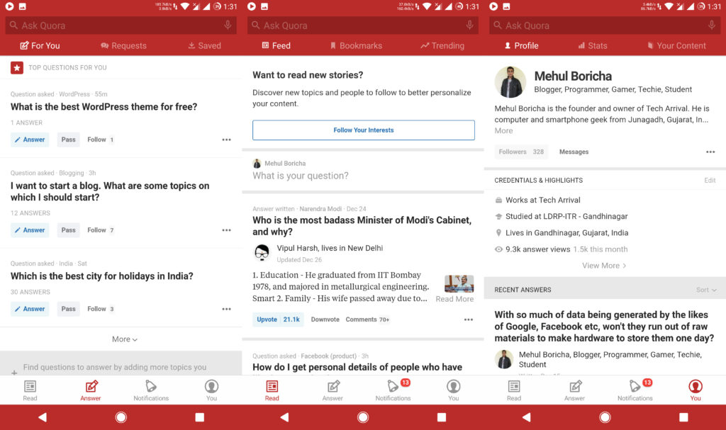 Quora - Best Apps For Android