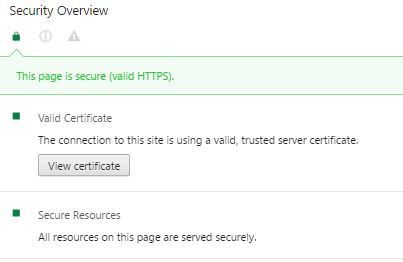 Security Overview Chrome