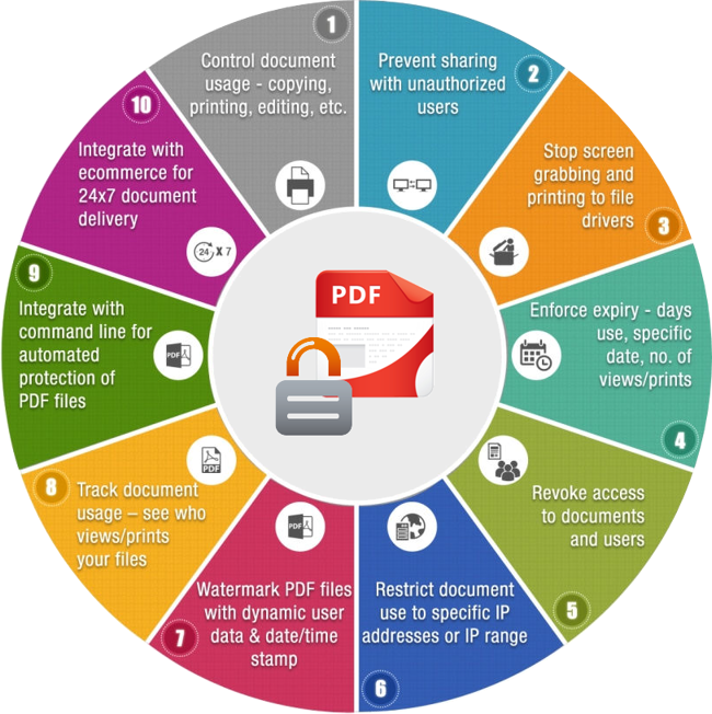 Enterprise PDF DRM Infographics Locklizard