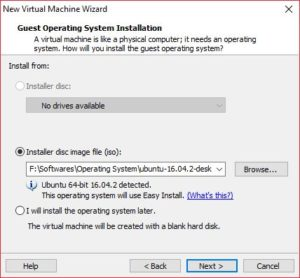 VMWare Workstation Create Virtual Machine 1