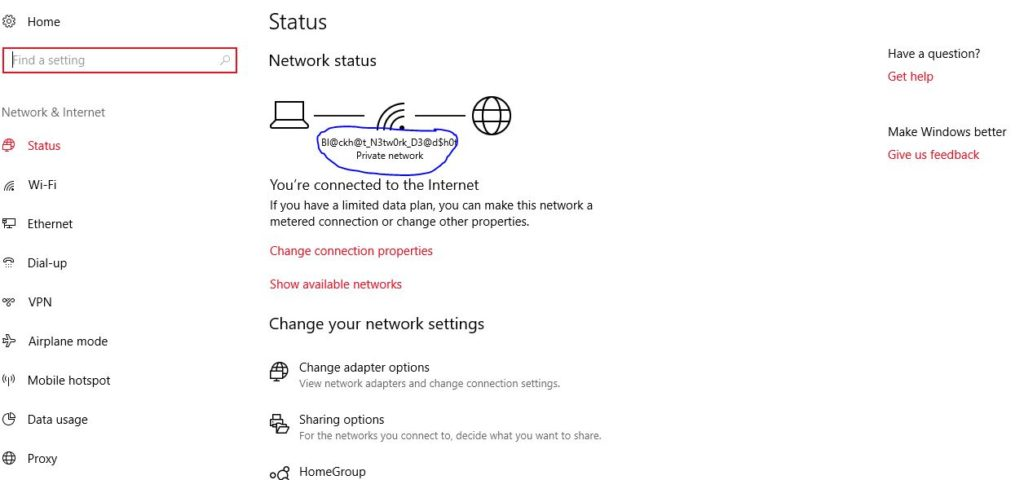 Windows WiFi Settings