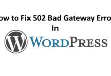 Fix 502 Bad Gateway Error in WordPress