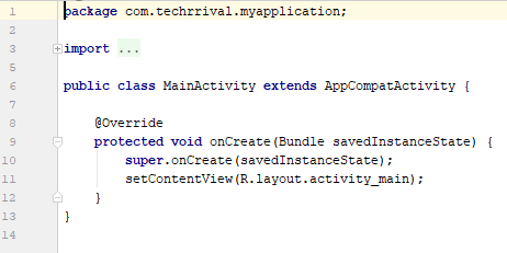 Default MainActivity Java