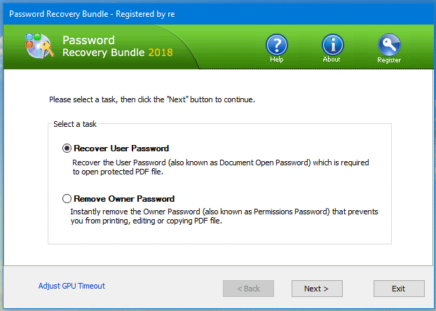 Password Recovery Bundle - Password Recovery Options