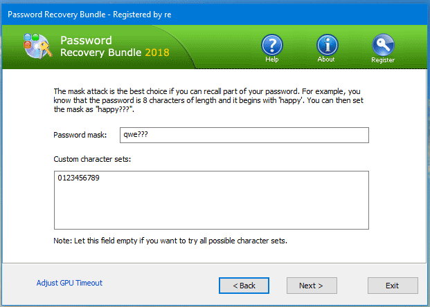 Password Recovery Bundle - Password Mask Attack