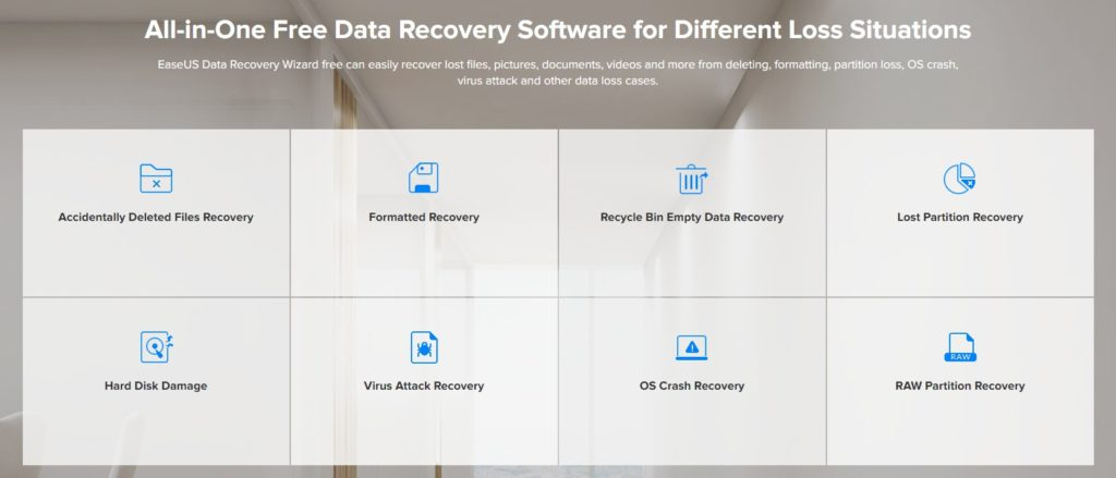 EaseUS Data Recovery Wizard Features