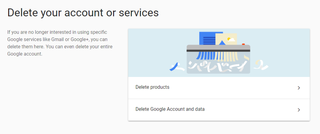 Google Account Deletion