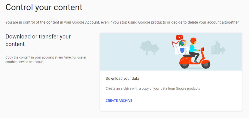 Google Data Download