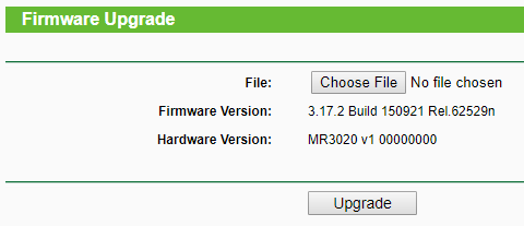 WiFi Router Firmware Upgrade