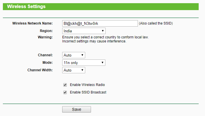 Wifi Router Ssid Settings