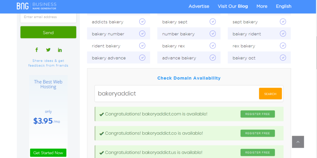 Business Name Generator Domain Availability