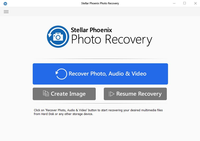 Stellar Photo Recovery Interface