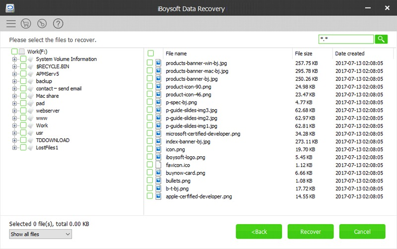 iBoySoft Data Recovery - Deleted Files