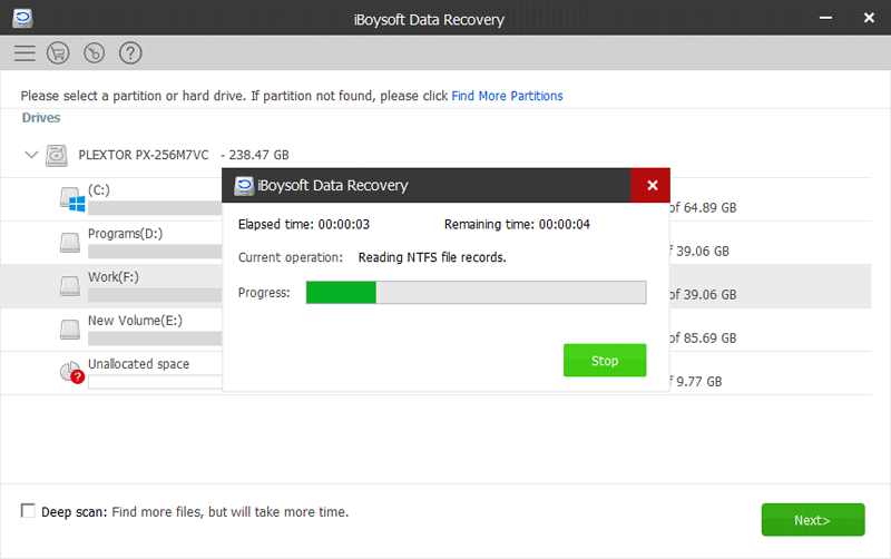 Iboysoft Data Recovery - Scan