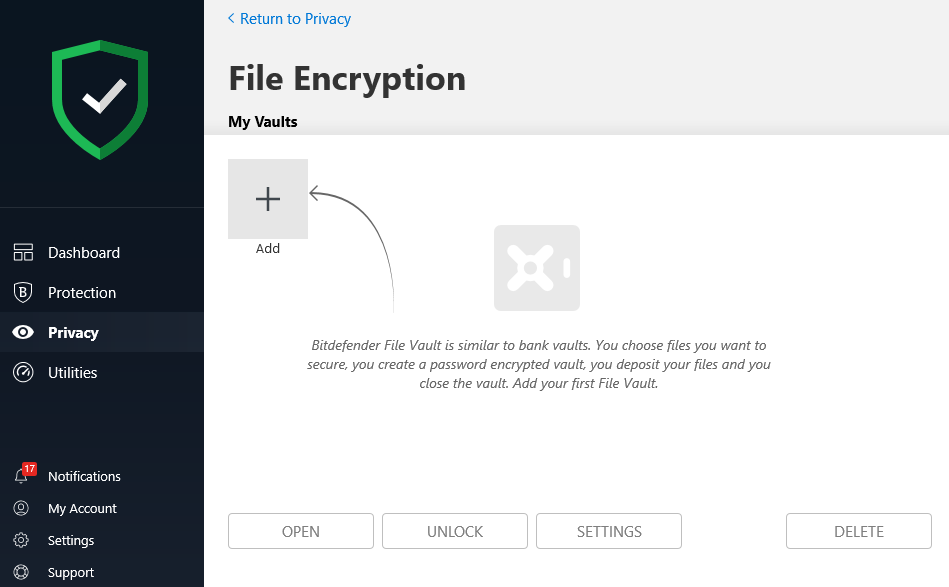 Bitdefender File Encryption