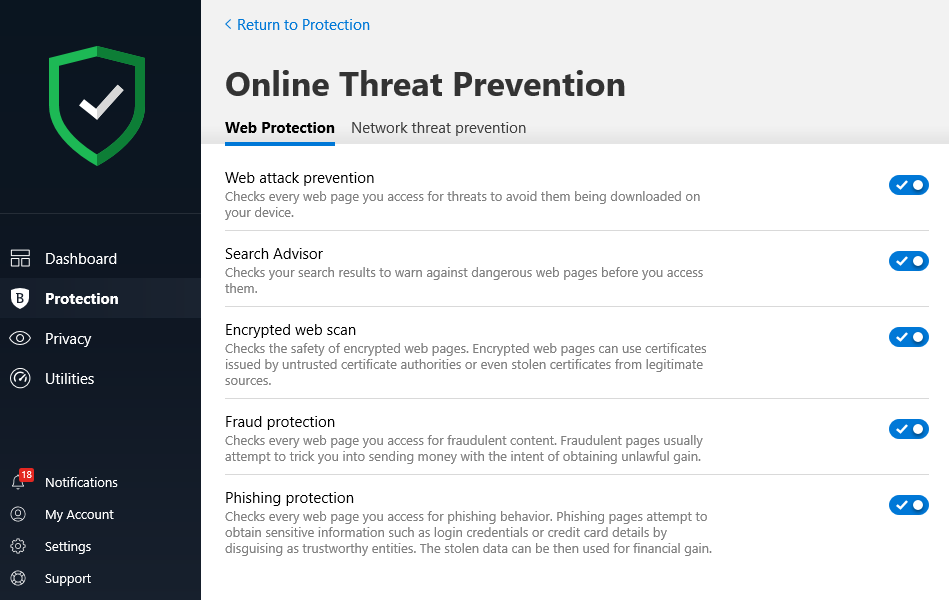 Bitdefender Online Threat Prevention