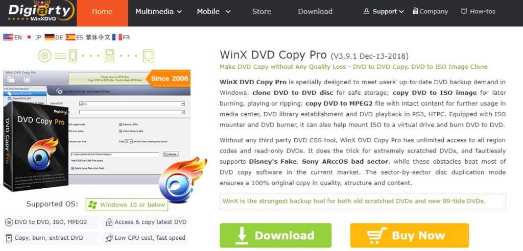 WinX DVD Copy Pro Download