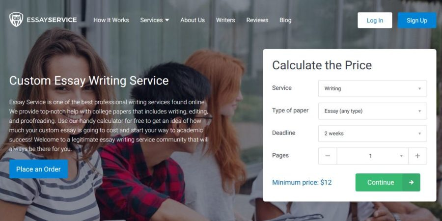 EssayService Homepage
