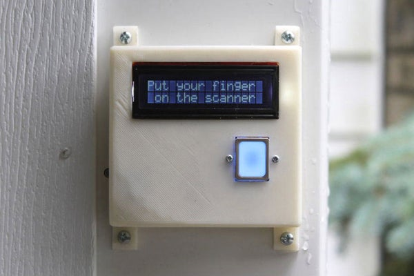 Arduino - Garage Door Fingerprint Open