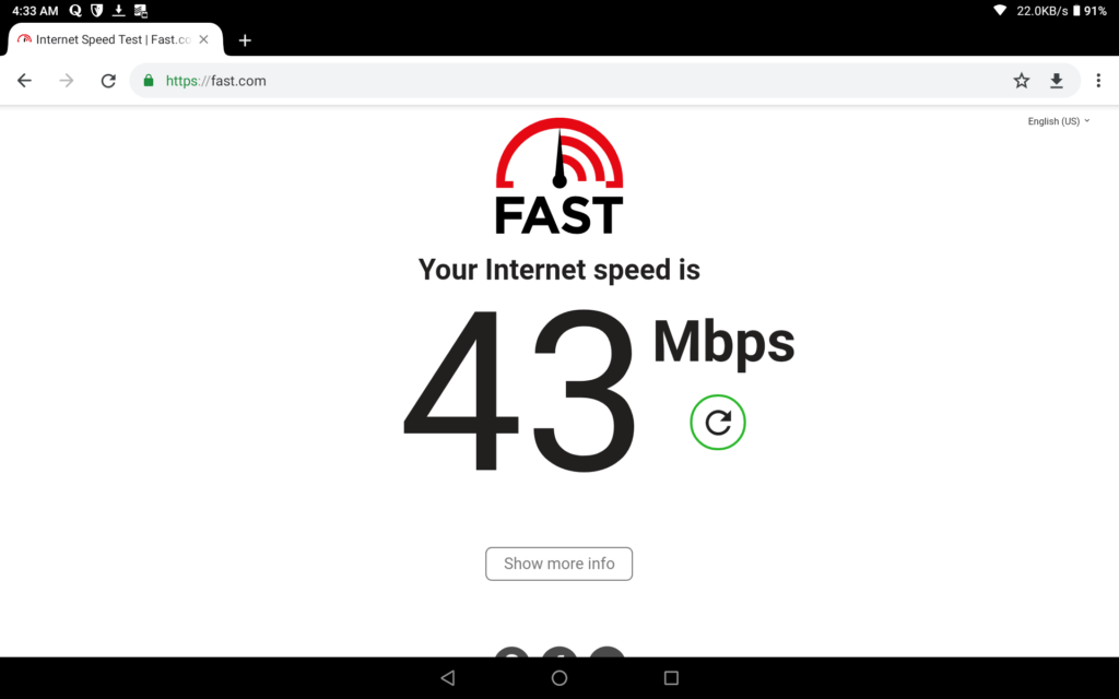 ALLDOCUBE iPlay10 Pro - Internet Speed Test