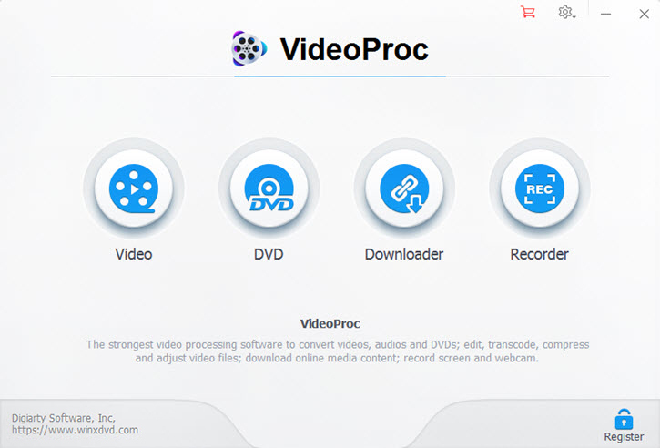 VideoProc Interface