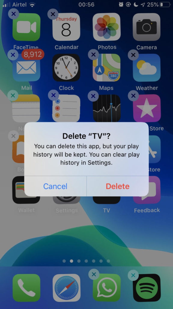 iPhone Delete Apps