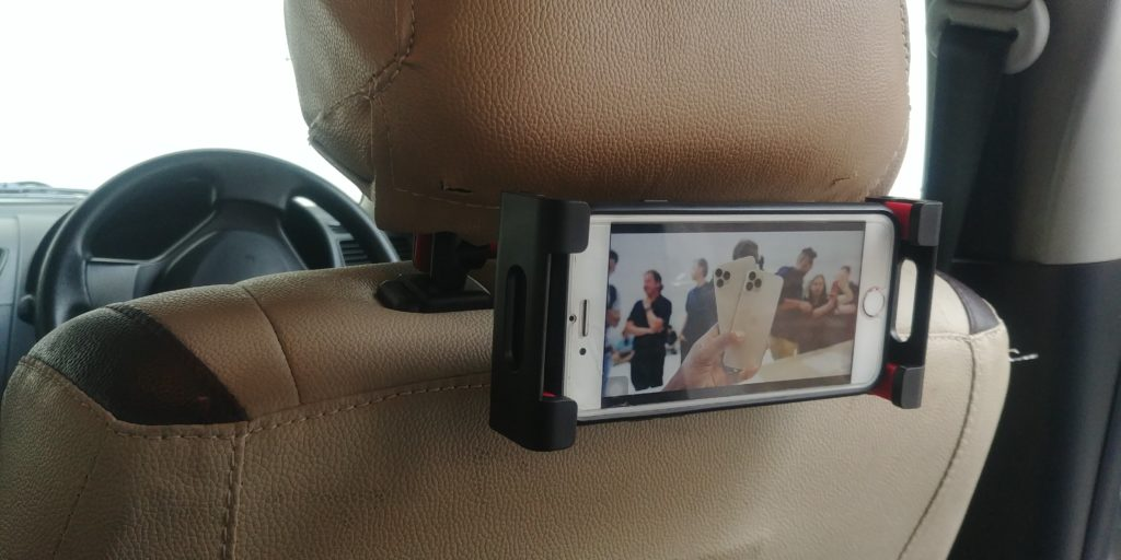 Lamicall Car Tablet Headrest Mount P2 Mounted Left