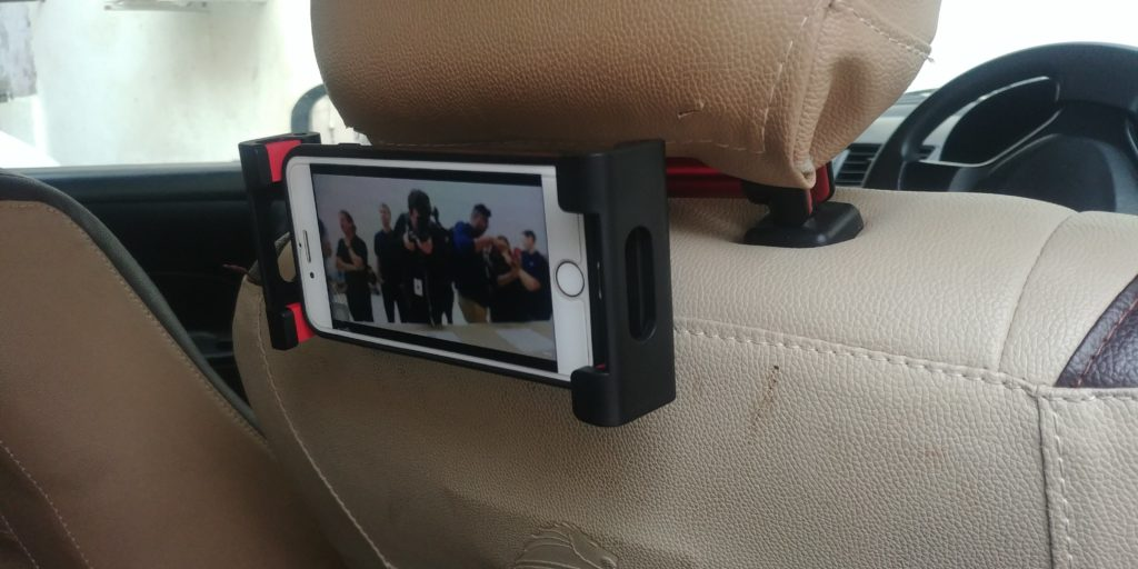 Lamicall Car Tablet Headrest Mount P2 Mounted Right