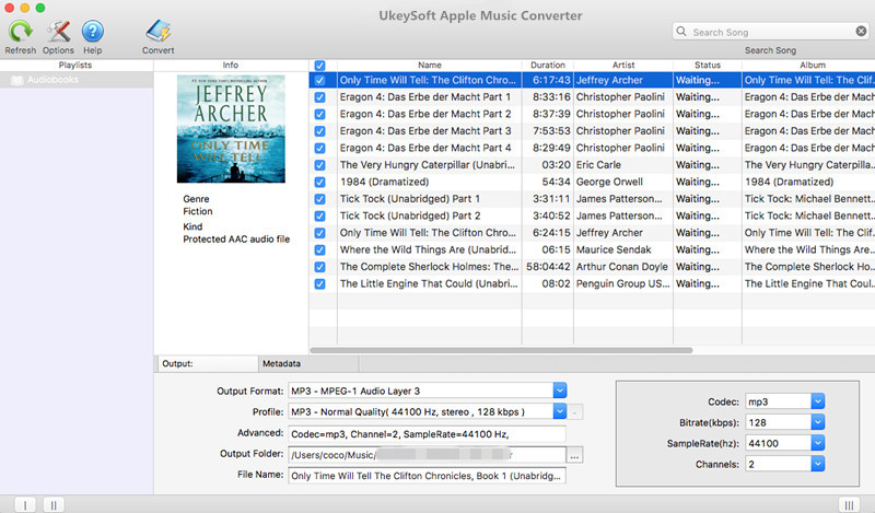 Ukeysoft Apple Music Converter Audiobooks
