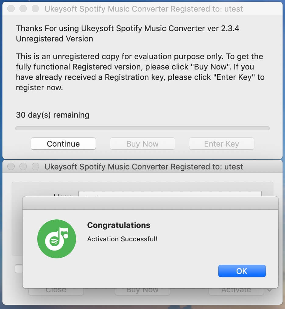 UkeySoft Spotify Converter Activation
