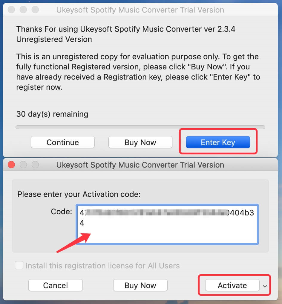 UkeySoft Spotify Converter Registration