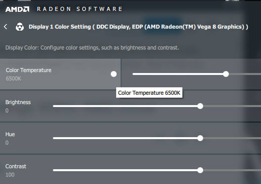 AMD Color Settings