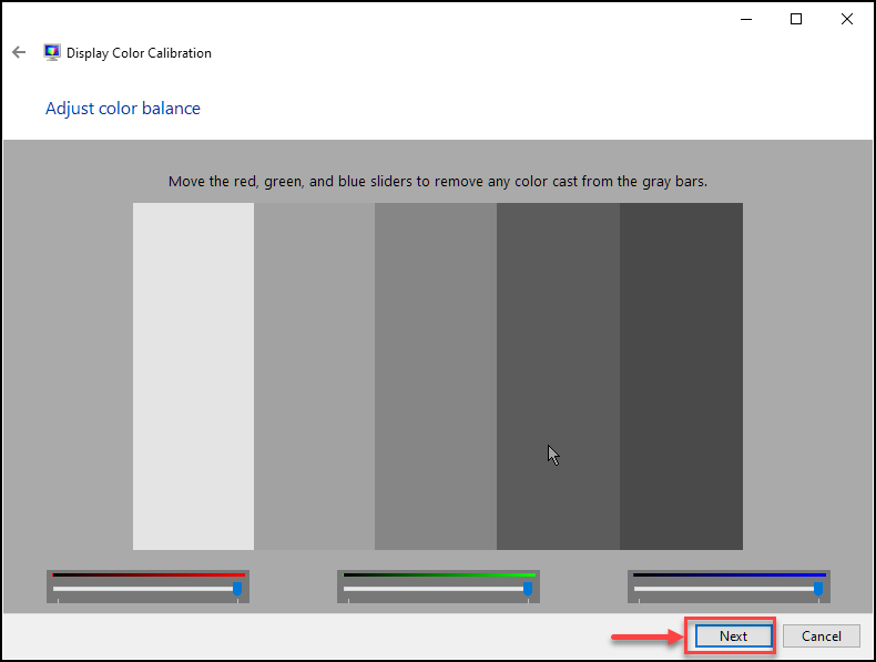 Adjust Color Balance Windows