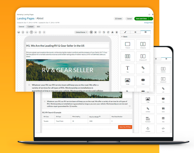 OroCommerce eCommerce platform advanced WYSIWYG editor