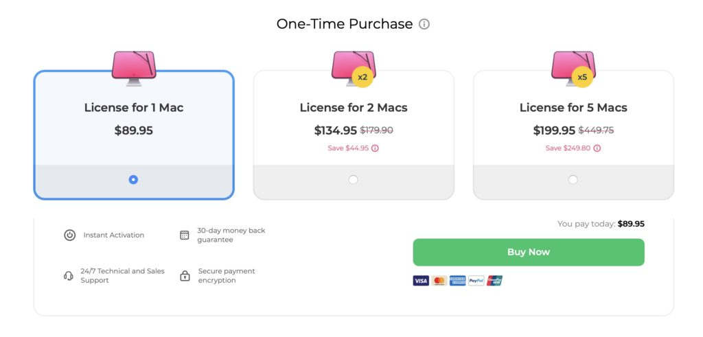 CleanMyMac X One-Time Pricing