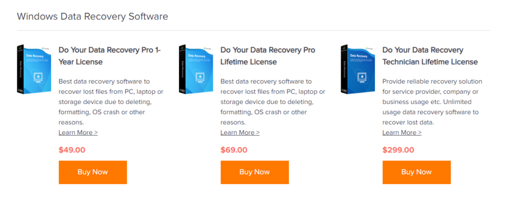 Do Your Data Recovery - Pricing