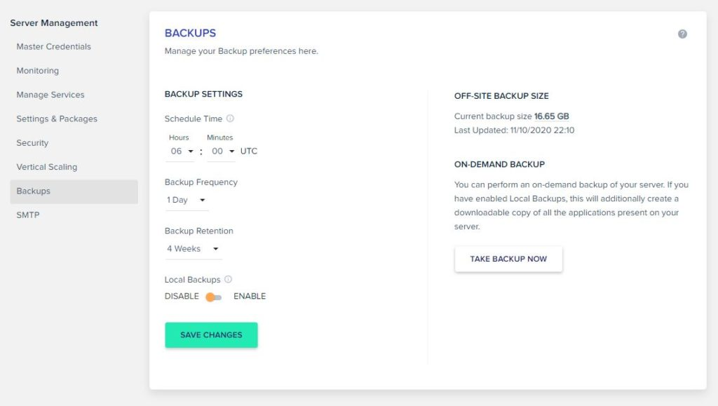 Cloudways Backup