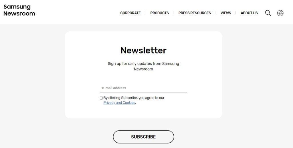Samsung Newsletter