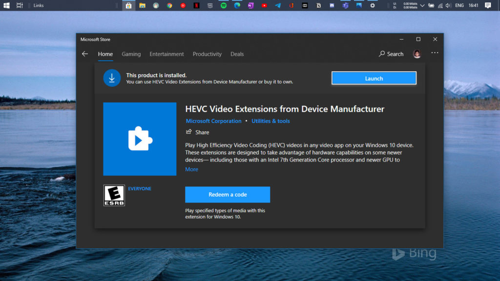 Hevc Video Extension From Device Manufacturer