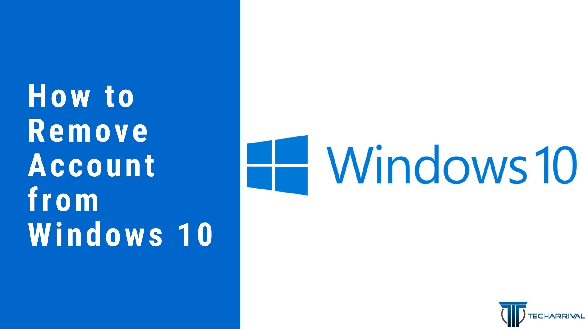 How To Remove Account From Windows 10