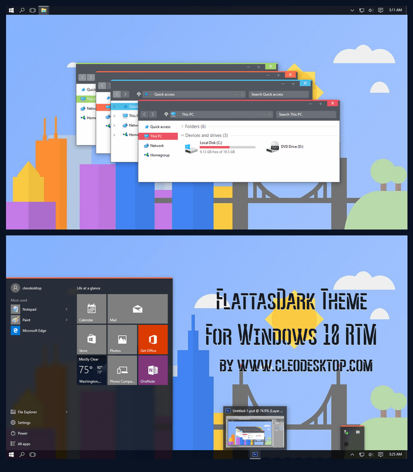 Windows 10 Flattastic Theme