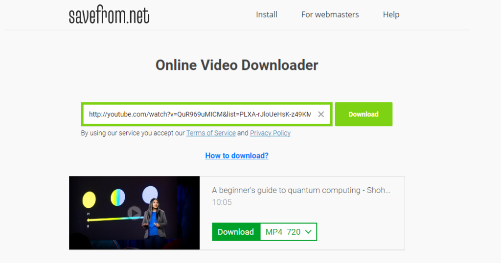 How To Download Youtube Videos - Savefromnet