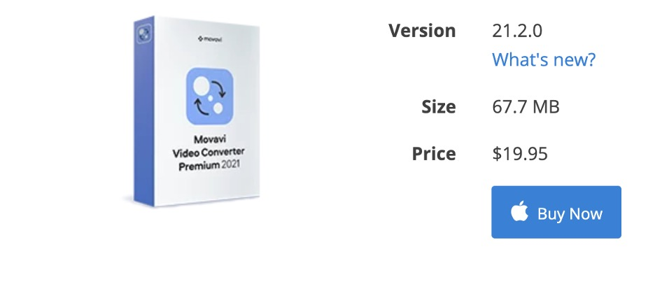 Movavi Video Converter - Pricing