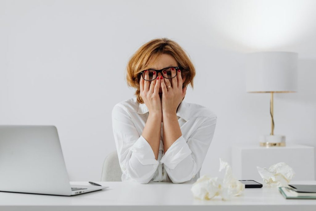 Woman Working Anxiety